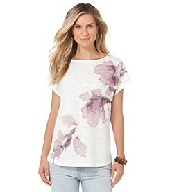 Chaps® Floral Graphic Top