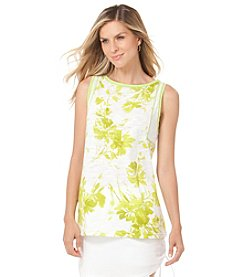 Chaps® Sleeveless Floral Top