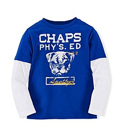 Chaps® Boys' 4-7 Long Sleeve Bulldog Tee
