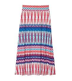 Amy Byer Girls' 7-16 Maxi Print Skirt