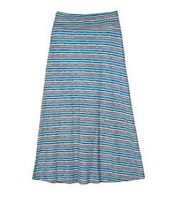 Amy Byer Girls' 7-16 Spacedye Striped Maxi Skirt
