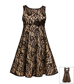 Bonnie Jean® Girls' 7-16 Empire Lace Dress With Open Back
