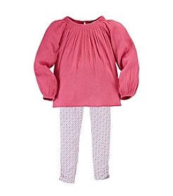 Chaps® Girls' 4-6X Peasant Top With Leggings Set®