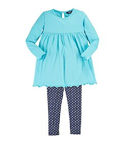Chaps® Girls' 2T-4T Dress Top With Leggings Set