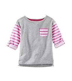 OshKosh B'Gosh® Girls' 2T-4T Long Sleeve Striped Raglan Tee