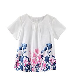OshKosh B'Gosh® Girls' 2T-4T Floral Flutter Sleeve Peplin Top