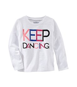 OshKosh B'Gosh® Girls' 2T-4T Long Sleeve Keep Dancing Tee