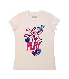 PUMA® Girls' 2T-4T Love To Play Tee