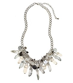 Relativity® Gray And Silvertone Shaky Necklace