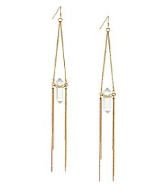 BCBGeneration™ Two Tone Drama Simulated Crystal Shard Earrings
