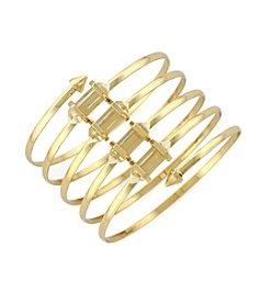 BCBGeneration™ Goldtone Crystal Shard Spiral Bracelet