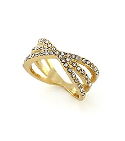 BCBGeneration™ Goldtone Starburst Stack Ring