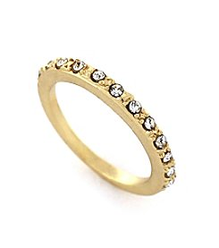 BCBGeneration™ Goldtone Pave Band Stack Ring