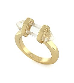 BCBGeneration™ Goldtone Crystal Shard Ring