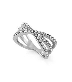 BCBGeneration™ Silvertone Starburst Stack Ring