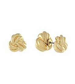 BCBGeneration™ Goldtone Knotted Front To Back Earrings