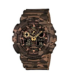 G-Shock Mens Brown Full Camo Watch