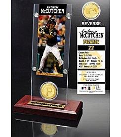 Pittsburgh Pirates Andrew McCutchen Ticket and Bronze Coin Acrylic Desktop Display