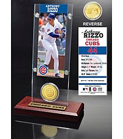 MLB Chicago Cubs Anthony Rizzo Ticket and Bronze Coin Acrylic Desktop Display