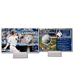 New York Yankees Brett Gardner Silver Coin Card Display by Highland Mint