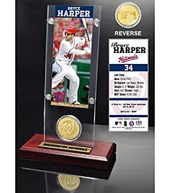 Washington Nationals Bryce Harper Ticket and Bronze Coin Acrylic Desktop Display