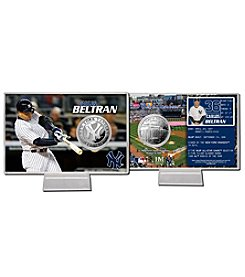 New York Yankees Carlos Beltran Silver Coin Card Display by Highland Mint