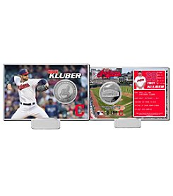Cleveland Indians Corey Kluber Silver Coin Card Display by Highland Mint