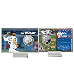 Los Angeles Dodgers Clayton Kershaw Silver Coin Card Display by Highland Mint