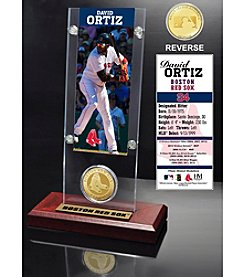 David Ortiz Ticket and Bronze Coin Acrylic Desktop Display
