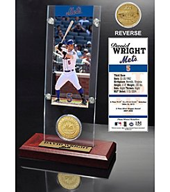 New York Mets David Wright Ticket and Bronze Coin Acrylic Desktop Display by Highland Mint