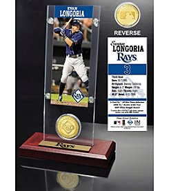 Evan Longoria Ticket and Bronze Coin Acrylic Desktop Display