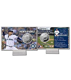 Seattle Mariners Felix Hernandez Silver Coin Card Display by Highland Mint