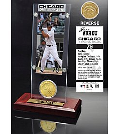 Jose Abreu Ticket and Bronze Coin Acrylic Desktop Display