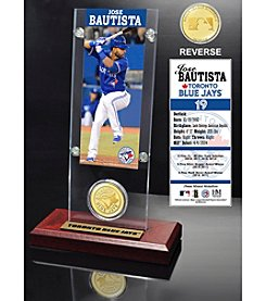 Jose Bautista Ticket and Bronze Coin Acrylic Desktop Display