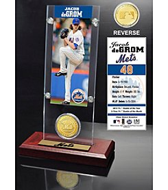 Jacob deGrom Ticket and Bronze Coin Acrylic Desktop Display