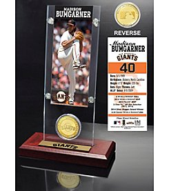 Madison Bumgarner Ticket & Bronze Coin Acrylic Desktop Display