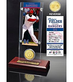 Prince Fielder Ticket and Bronze Coin Acrylic Desktop Display
