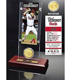 MLB Arizona Diamondbacks Paul Goldschmidt Ticket and Bronze Coin Acrylic Desktop Display