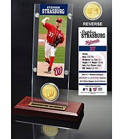Washington Nationals Stephan Strasburg Ticket & Bronze Coin Acrylic Desktop Display by Highland Mint