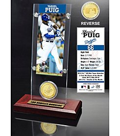 MLB® Los Angeles Dodgers Yasiel Puig Ticket and Bronze Coin Desktop Acrylic