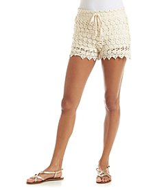 Wallflower Crochet Overlay Drawstring Shorts