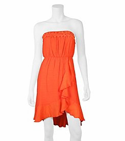 A. Byer Ruffle Crochet Dress