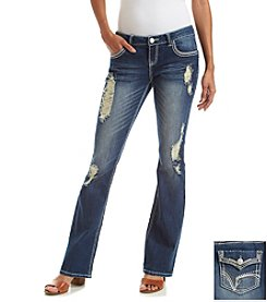 Hippie Laundry Deconstructed Boot Cut Jeans