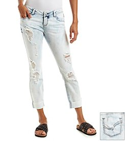 Hippie Laundry Acid Wash Destroyed Roll Cuff Jeans