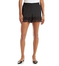 Kensie® Lace Trim Shorts