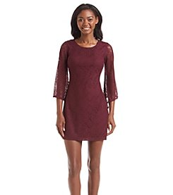 A. Byer Lace Bell Sleeve Dress