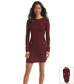 A. Byer Cable Knit Sweater Dress