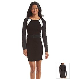 A. Byer Silhouette Blocked Sweater Dress