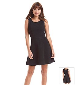 Be Bop Textured Skater Dress