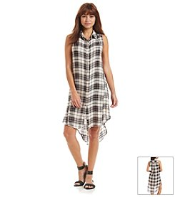 Living Doll® Plaid Button Down Shirt Dress